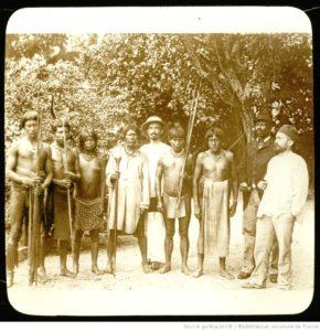 Guyane française. Coudreau et son escorte