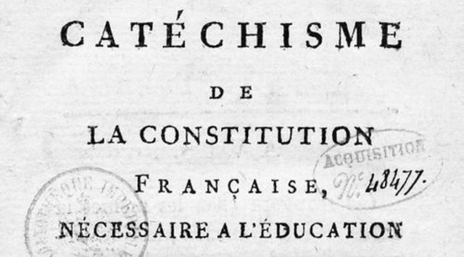 Les catéchismes politiques conservés dans les fonds de  la Bibliothèque nationale de France