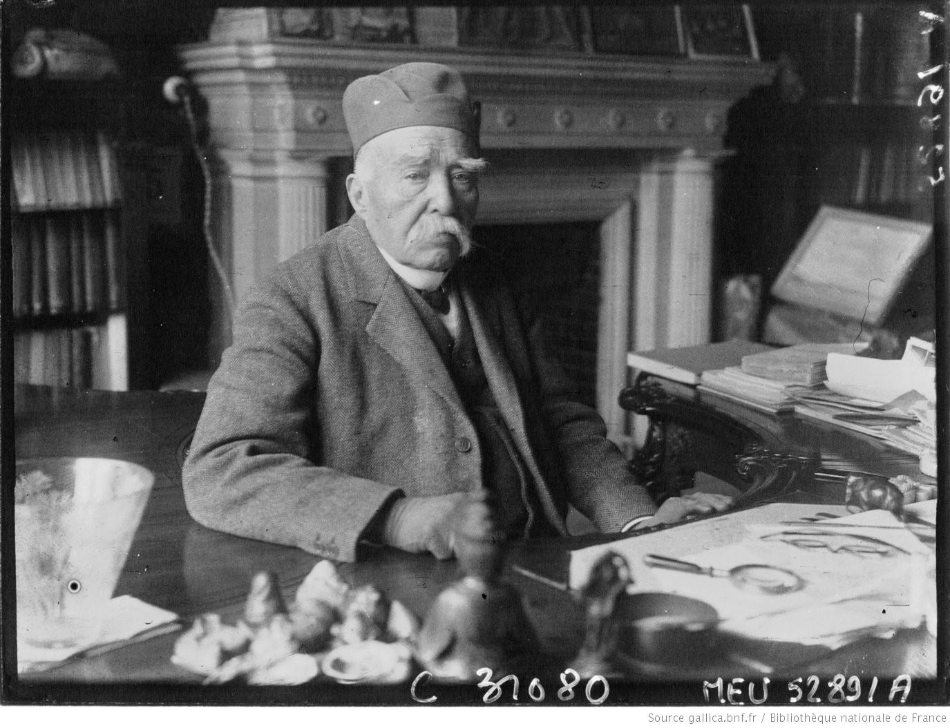 Georges Clemenceau chez lui (portrait) : [photographie de presse] / Agence Meurisse Paris, 1928. Dép. des Estampes et de la photographie, EI-13 (2823)