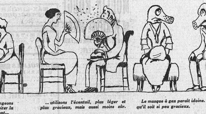 Vaincre les épidémies entre 1900 et 1929  :  isolement, masques, sérums ou vaccins –  Partie III. Le fiasco du masque (et de la voilette !)