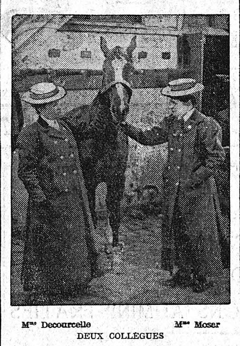 [Mesdames Decourcelle et Moser], Le Matin, 1er avril 1907. Gallica (BnF).