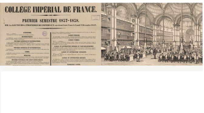 Histoire croisée du Collège de France et de la Bibliothèque nationale de France : journée d'étude (14 juin 2021)